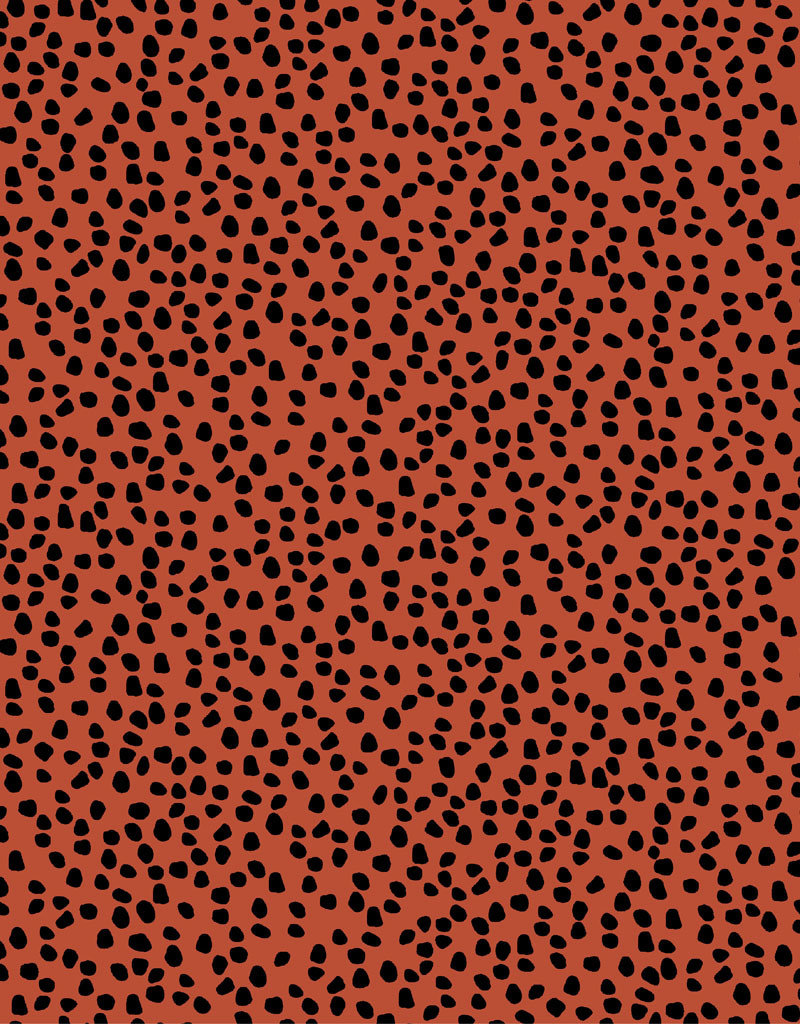 Red canvas dots