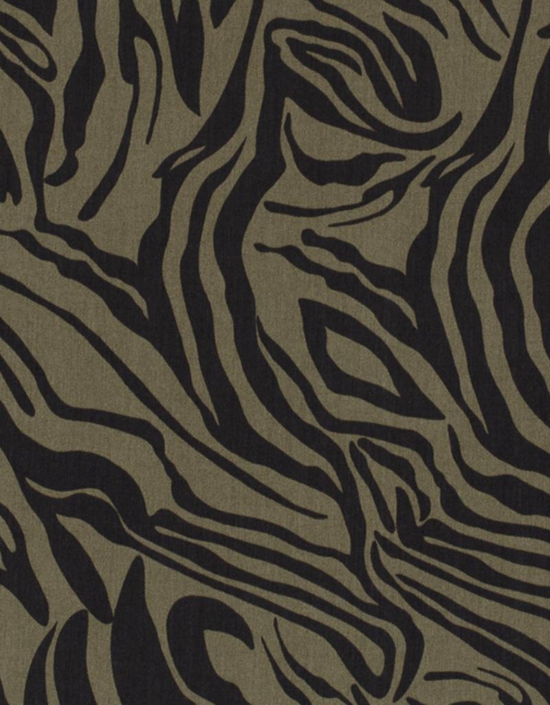 Tencel print zebra