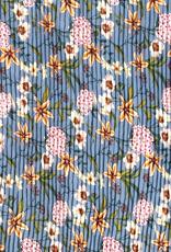 Plisse blauw bloem
