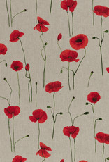 Emma canvas poppies