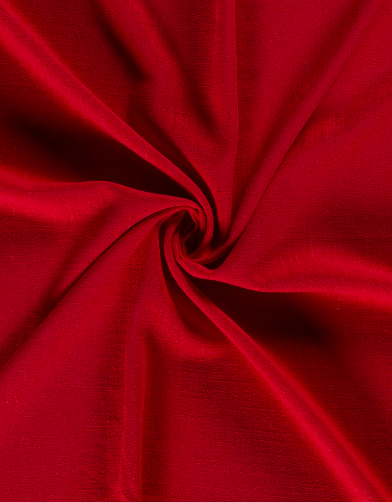 Viscose linnen rood
