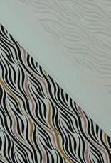 Zebra stripes glitter