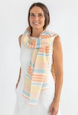 Katia fabrics Panama stripes orange