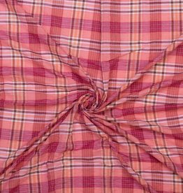 Pink tartan checks
