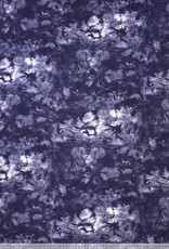 French terry batik blauw