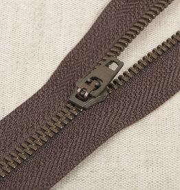Rits|metaal niet deelbaar|bruin|kleur 570