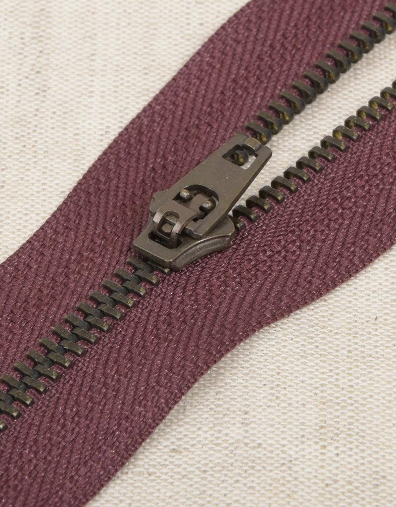 Rits|metaal niet deelbaar|Donker violet|kleur 21
