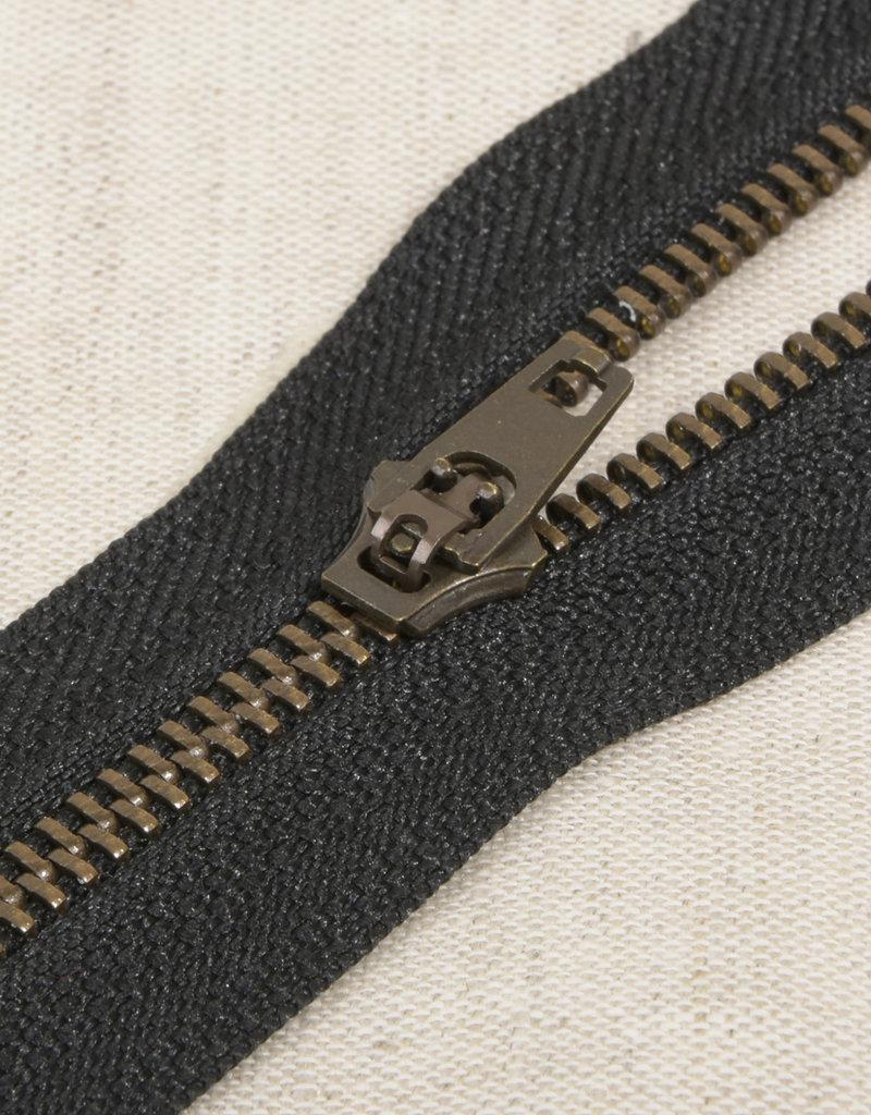 Rits|metaal niet deelbaar|zwart|kleur 580