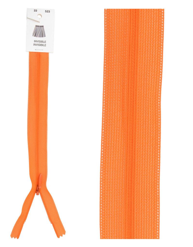 Blinde rits|oranje|kleur 523