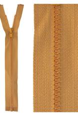 Bloktand rits|deelbaar| cognac|kleur 508