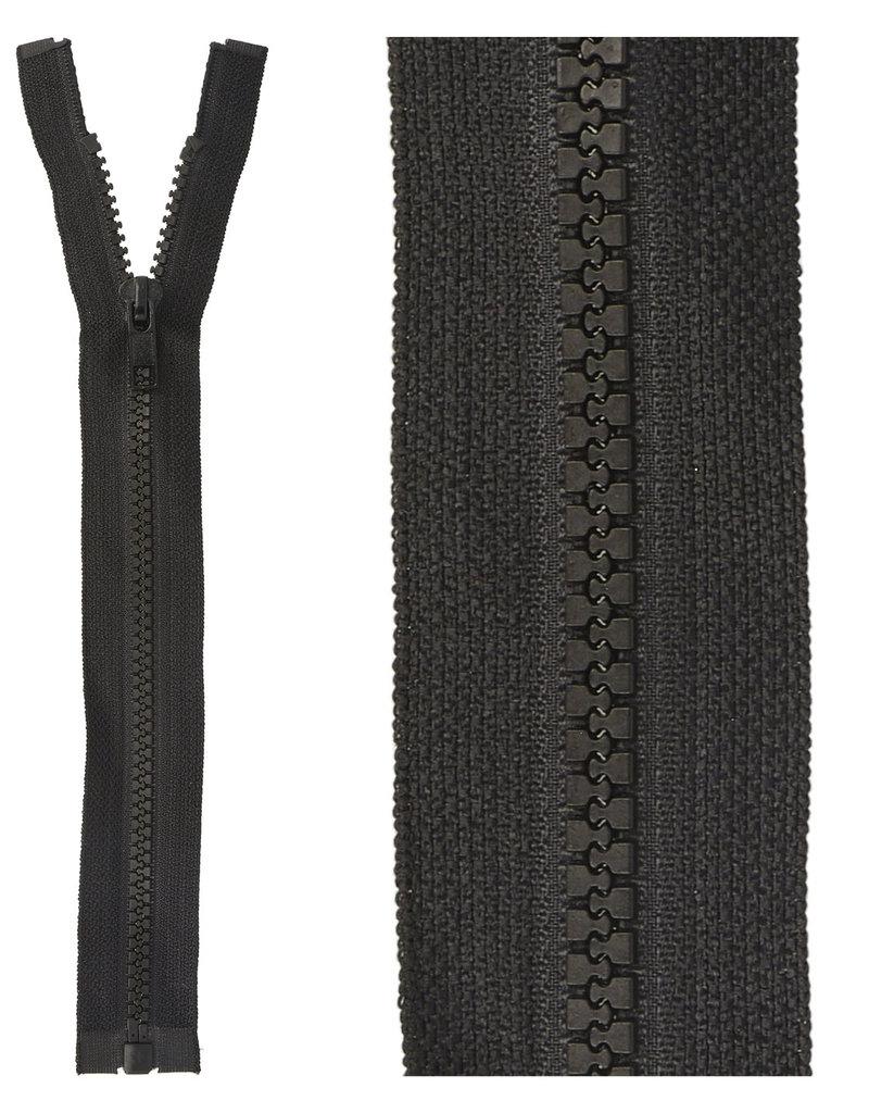 Bloktand rits|deelbaar| zwart|kleur 580