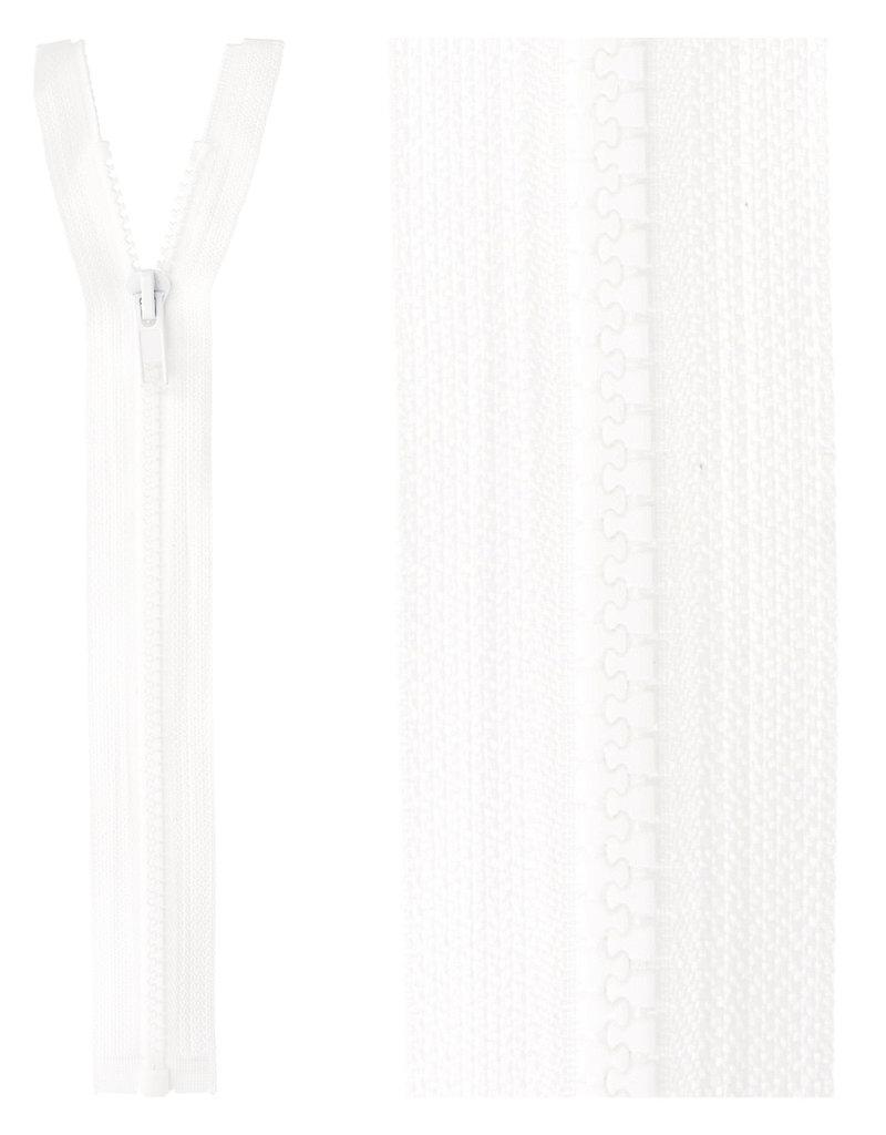 Bloktand rits deelbaar wit kleur 501