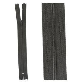 Rits|niet deelbaar|zwart|kleur 580
