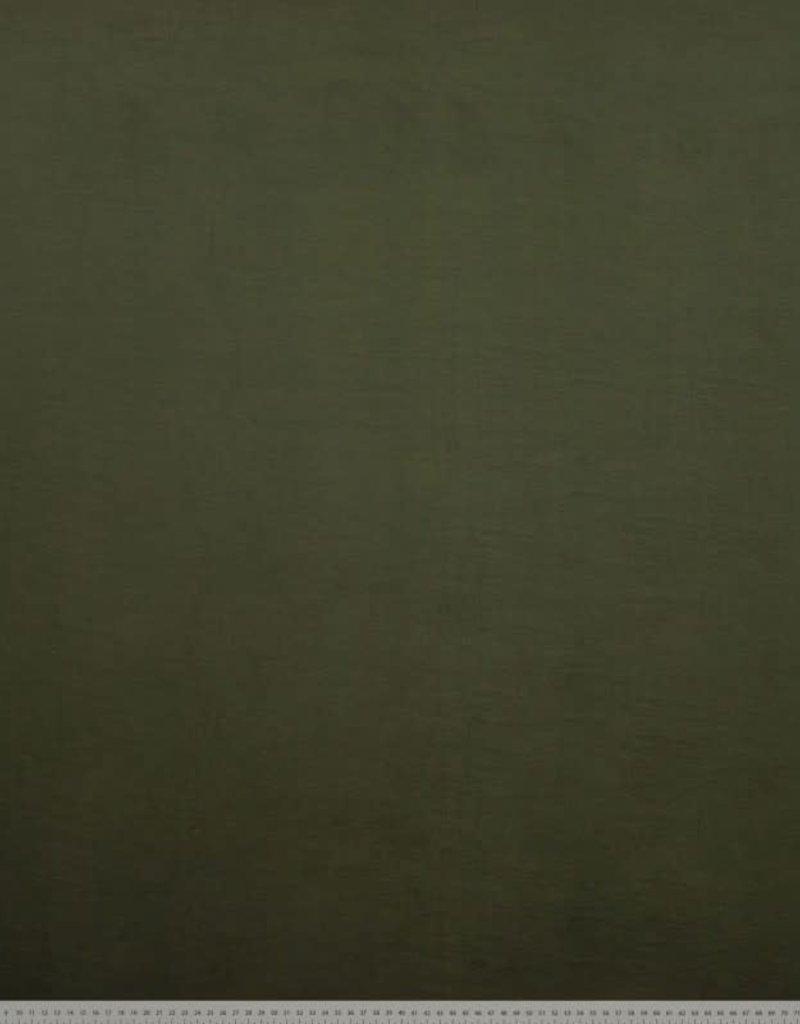 Bamboo tricot katoen olijf