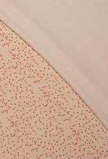 Spons confetti print oranjerood
