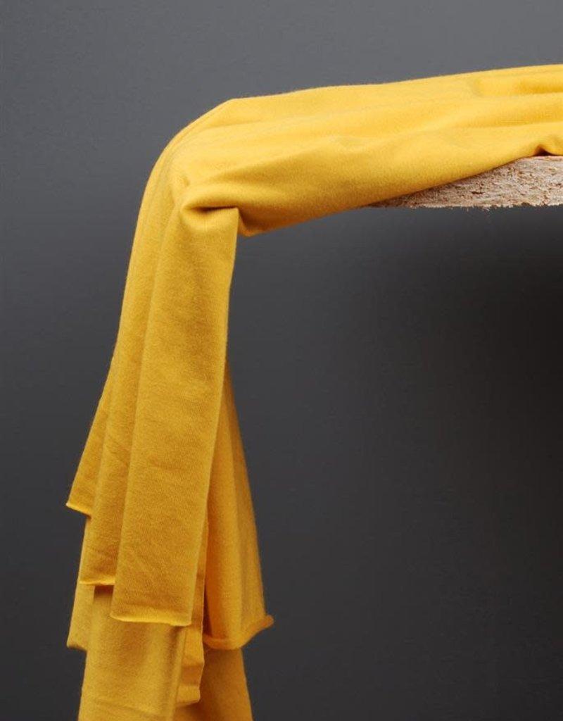 Modaltencel  tricot zonnegeel