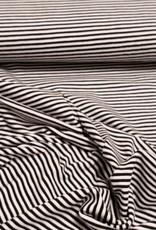 Gestreepte tricot wit zwart