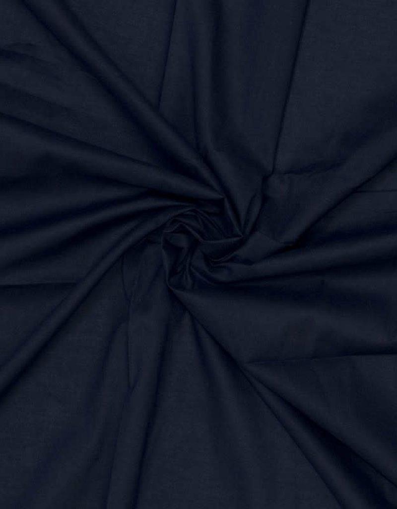 Batist katoen donkerblauw