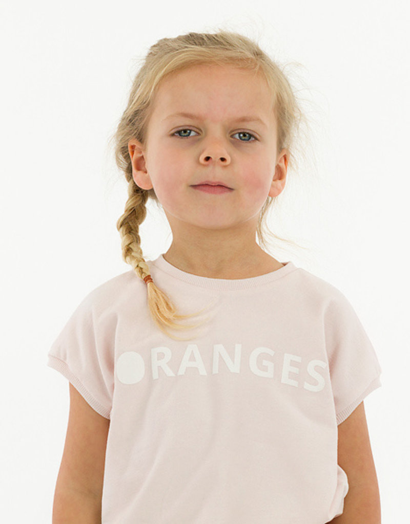 See  You At Six Oranges french terry sleutelbloem roze