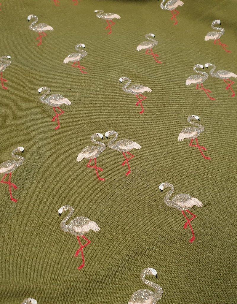 Flamingo met glitter