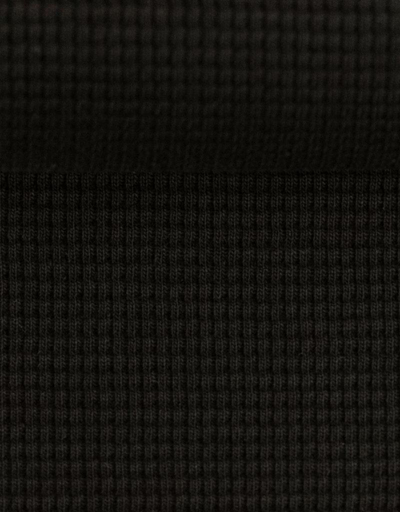 Clarissa wafel jersey zwart