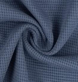 Clarissa wafel jersey blauw