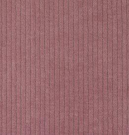 Juna ribfluweel roze