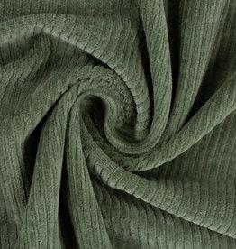 Juna ribfluweel pine green