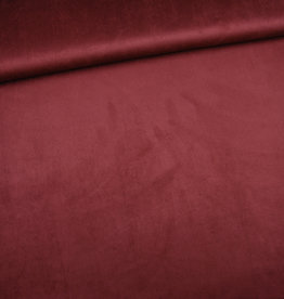 Winter suede donker rood