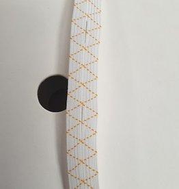 Knoopsgat elastiek wit  12 mm
