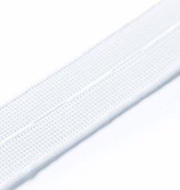 Knoopsgat elastiek wit 30 mm