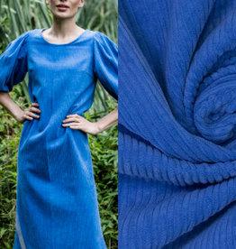 Fibre mood Washed corduroy blue, Doris