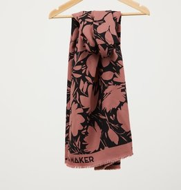 Mind the maker Floral shade crepe rosewood  ecovero viscose