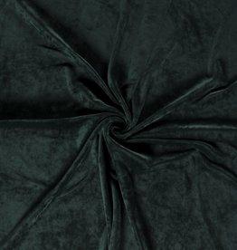 geen Fluweel groen met tricot achterzijde