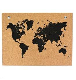 Captain Cork Memobord Wereldmap
