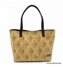 Big and handy tote bag with beautiful pattern black