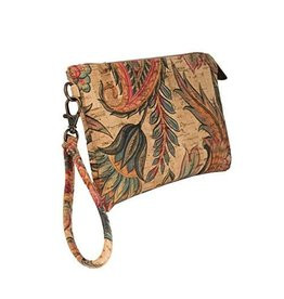 clutch wristlet with tropical flowers