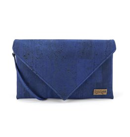 Captain Cork Enveloppe Clutch Kelly in Denim Blauw