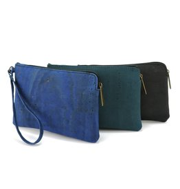 Clutch wristlet Denim Blue