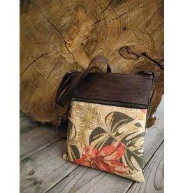 Captain Cork Shoulder bag Caroline tropical flowers