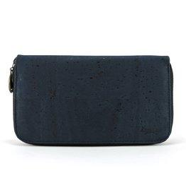 Purse with zipper blue