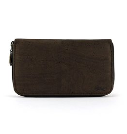 Purse with zipper brown