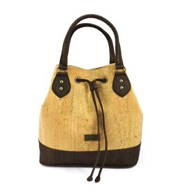 Captain Cork Buckle Bag Chantal in Natural Cork color
