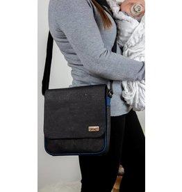 Shoulder bag Robin Messenger in black