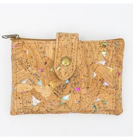 Captain Cork Wallet with colorful rainbow pattern