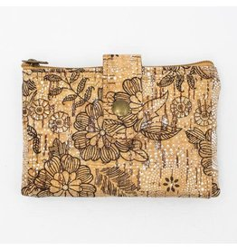 Captain Cork Purse  with gracious floral pattern