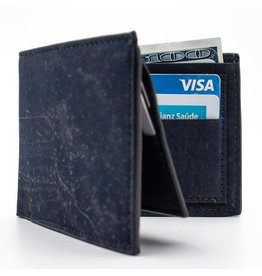 Captain Cork Bjorn Stylish men's wallet in dark blue cork leather