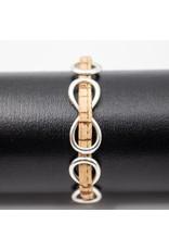Armband met infinity knoop in natuur look