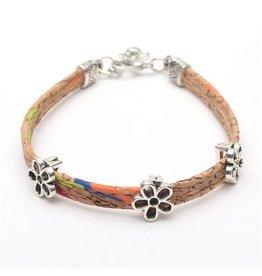 Captain Cork Bracelet with fine flowers in color
