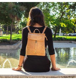 Captain Cork Backpack Timeless style classic in cork color